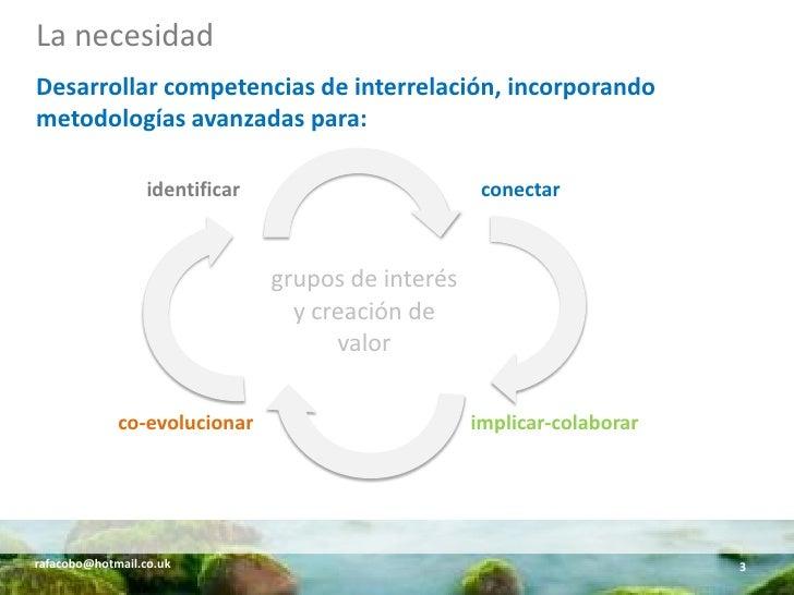 La necesidad Desarrollar competencias de interrelación, incorporando metodologías avanzadas para:                    ident...