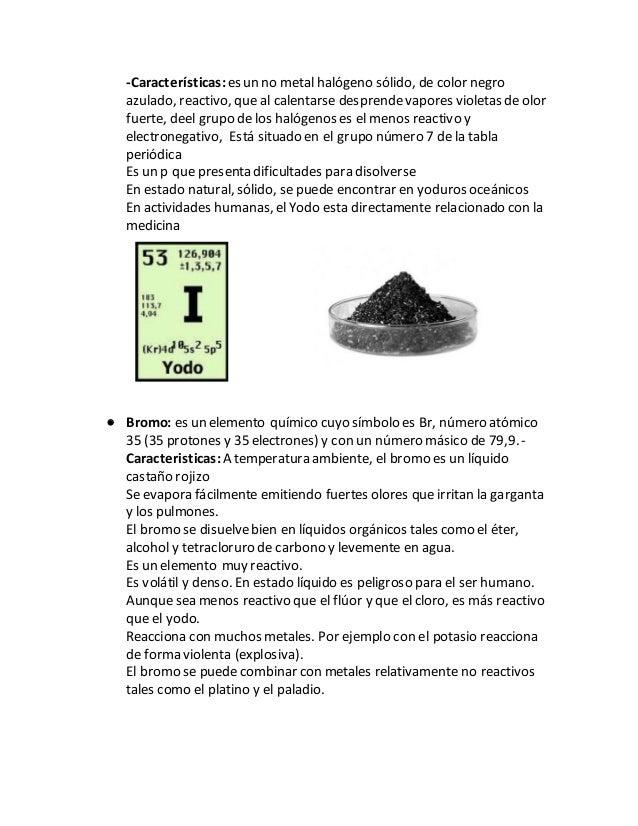 Grupos de la tabla periodica 22 caractersticases un no metal halgeno slido urtaz Images