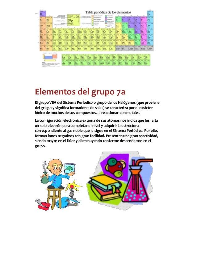 Grupos de la tabla periodica 1 23 elementos del grupo 7a el grupo viia urtaz Choice Image