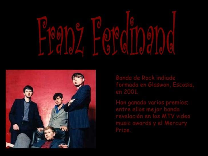 Banda de Rock indiadeformada en Glaswon, Escosia,en 2001.Han ganado varios premios;entre ellos mejor bandarevelación en lo...