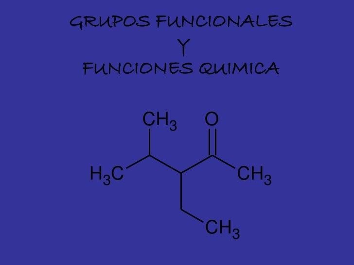 GRUPOS FUNCIONALES          Y  FUNCIONES QUIMICA         CH3   O   H3C             CH3               CH3