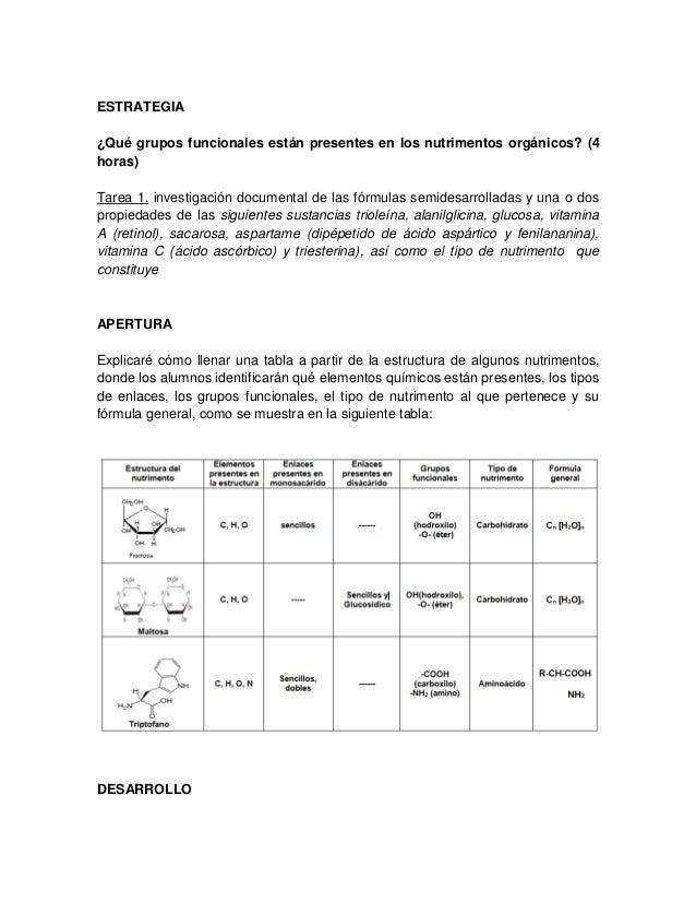 Grupos Funcionales En Estructuras Moleculares