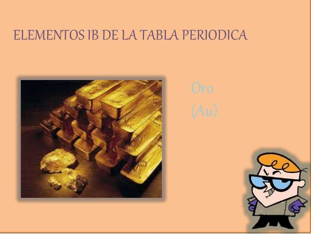 Grupos ib y iib elementos ib de la tabla periodica oro au urtaz Gallery