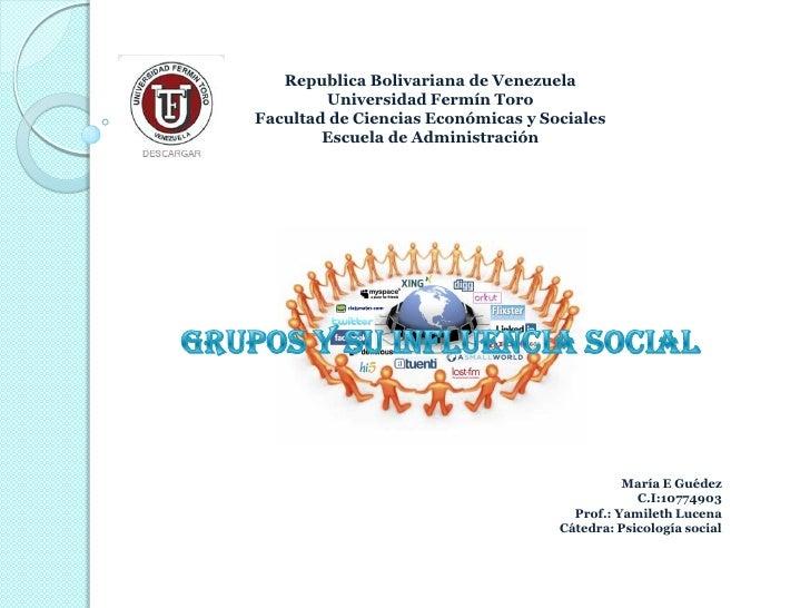 Republica Bolivariana de Venezuela        Universidad Fermín ToroFacultad de Ciencias Económicas y Sociales        Escuela...