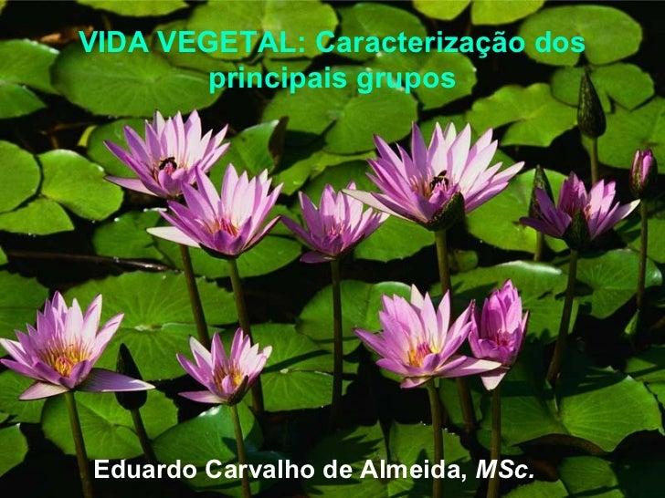 VIDA VEGETAL: Caracterização dos         principais grupos     Eduardo Carvalho de Almeida, MSc.