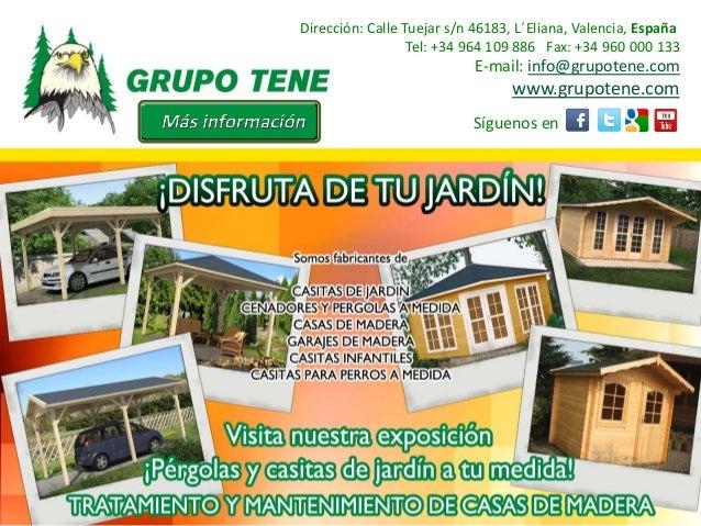 Oferta De Casas De Madera Para El Jardin En Murcia Y Cartagena