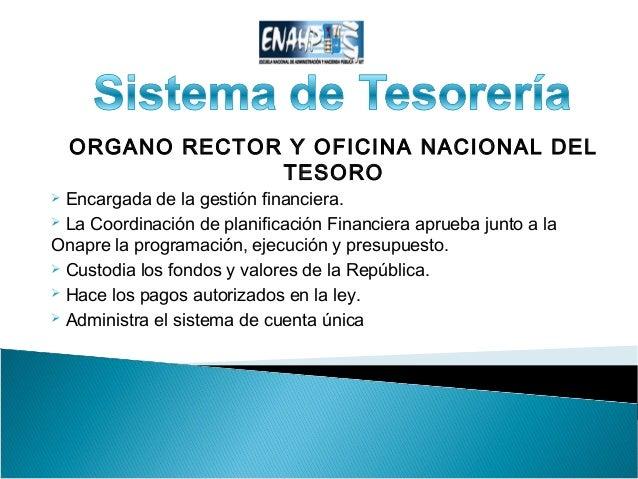 Grupo uno sistema de tesoreria upata for Oficina nacional de evaluacion