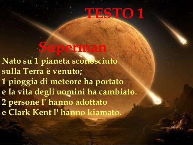 Superman Nato su 1 pianeta sconosciuto sulla Terra è venuto; 1 pioggia di meteore ha portato e la vita degli uomini ha cam...