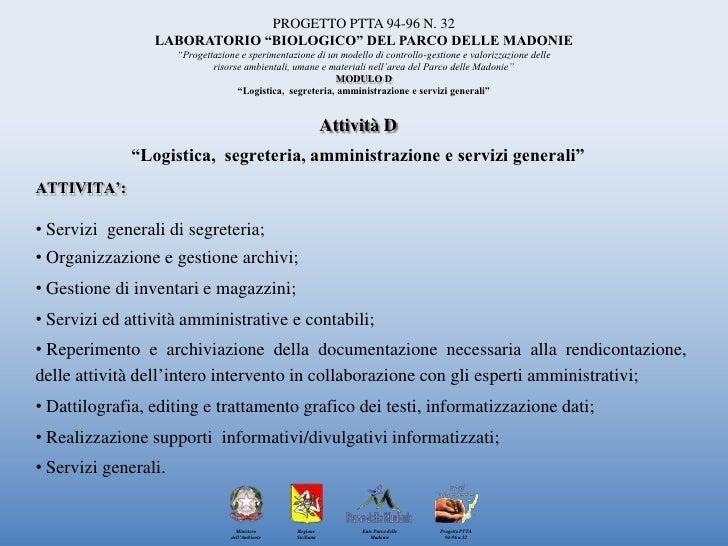 """PROGETTO PTTA 94-96 N. 32<br />LABORATORIO """"BIOLOGICO"""" DEL PARCO DELLE MADONIE<br />""""Progettazione e sperimentazione di un..."""