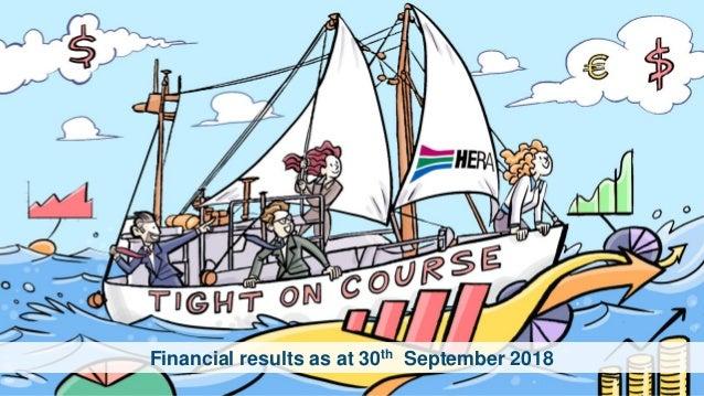 Financial results as at 30th September 2018