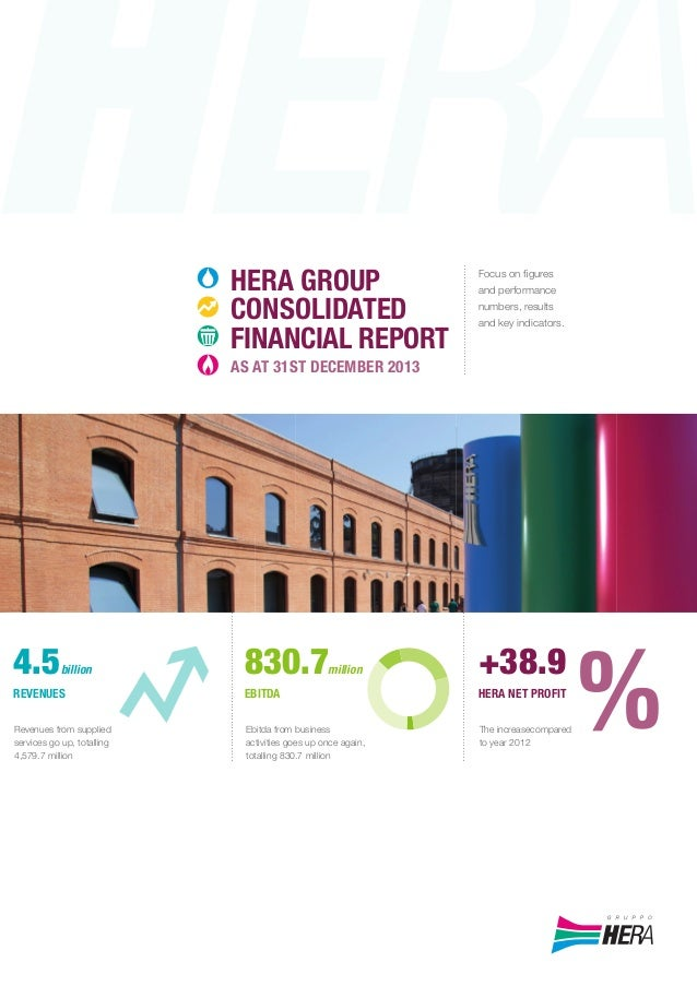 HERAGROUPCONSOLIDATEDFINANCIALREPORTASAT31STDECEMBER2013HERAGROUP Focus on figures and performance numbers, results and key...