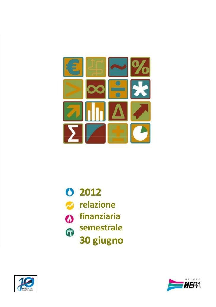 BOZ      2012      relazione      finanziaria      semestrale      30giugno