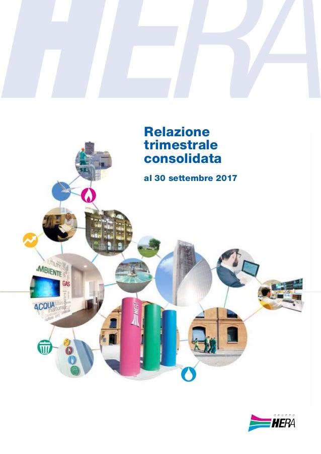 Relazione trimestrale consolidata al 30 settembre 2017
