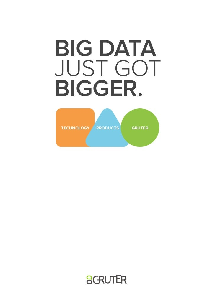 BIG DATAJUST GOTBIGGER.TECHNOLOGY   PRODUCTS   GRUTER