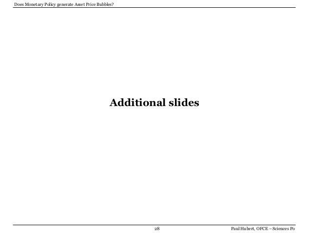 asset price Monetary policy and asset price volatility: should we refill the bernanke-gertler prescription kenneth n kuttner june 3, 2011 abstract bernanke and gertler's.