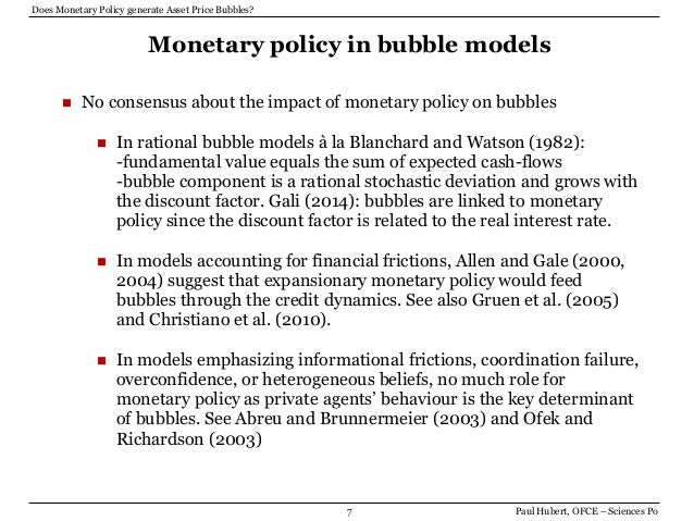 dealing with asset bubble Prior to the global financial crisis (gfc), central bankers tend to adopt the ostrich's mentality to asset price bubbles alan greenspan, the chief architect of this school of thought believes that central bankers should only target price stability and price inflation with their interest rate levers.