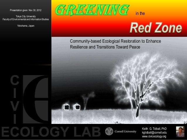 Presentation given Nov 30, 2012              Tokyo City University                                                        ...