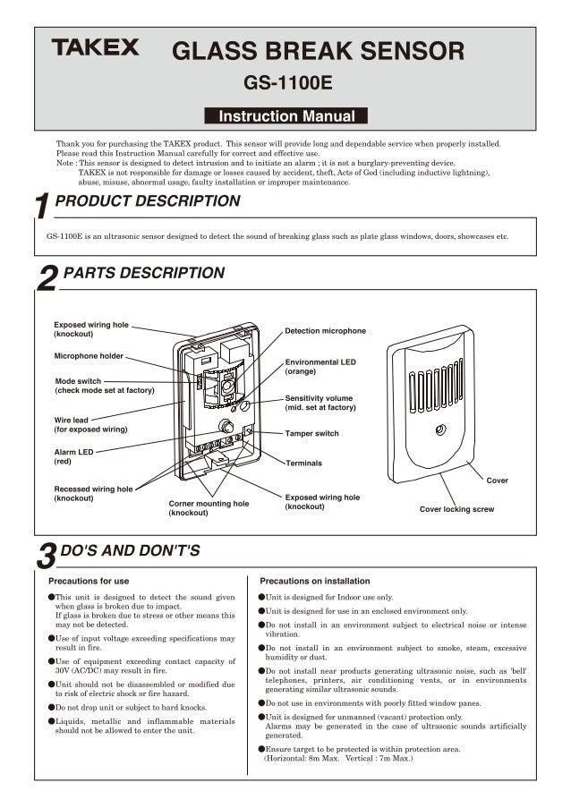 Takex GS-1100E Instruction Manual