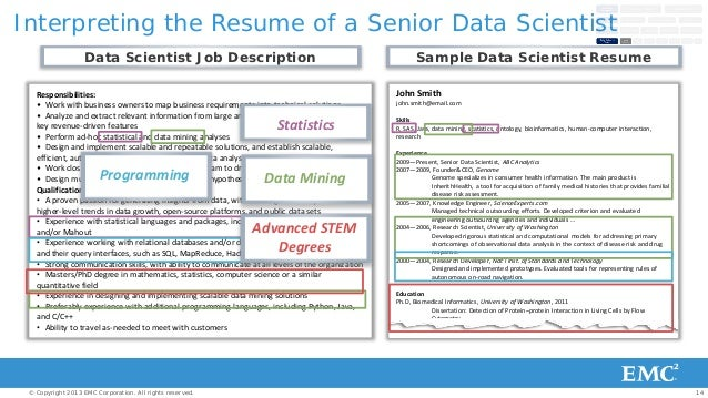 curious 14 interpreting the resume of a senior data scientist - Data Science Resume Examples