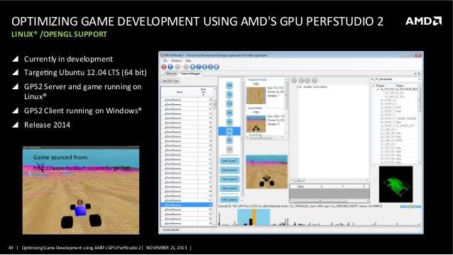 GS-4136, Optimizing Game Development using AMD's GPU