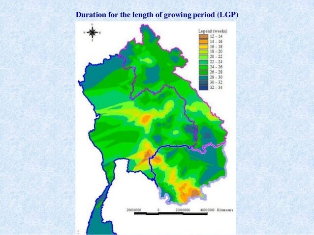 Duration for the length of growing period (LGP)
