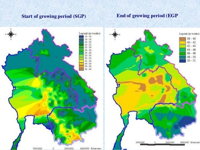 Start of growing period (SGP) End of growing period (EGP