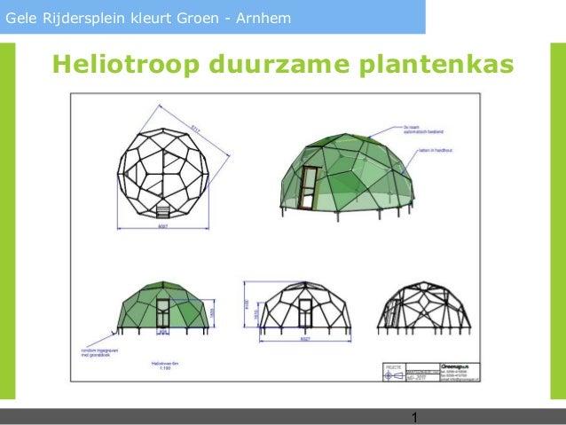 1Gele Rijdersplein kleurt Groen - ArnhemHeliotroop duurzame plantenkas