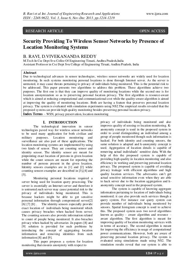 B. Ravi et al Int. Journal of Engineering Research and Applications ISSN : 2248-9622, Vol. 3, Issue 6, Nov-Dec 2013, pp.12...