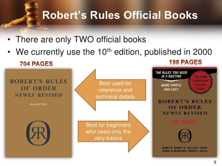 Roberts Rules of Order Newly Revised In Brief 2nd edition Roberts Rules of Order in Brief