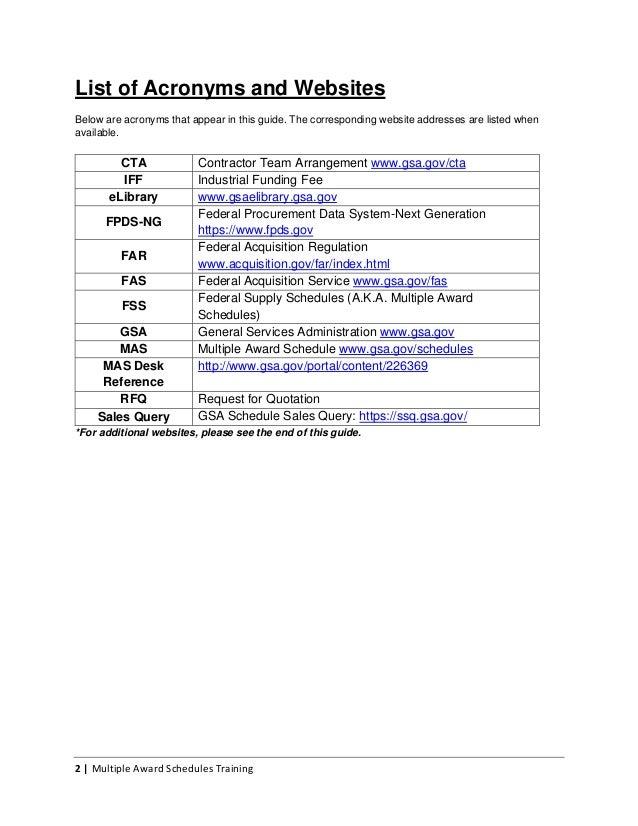 Federal Procurement Data System : Gsa cta guide