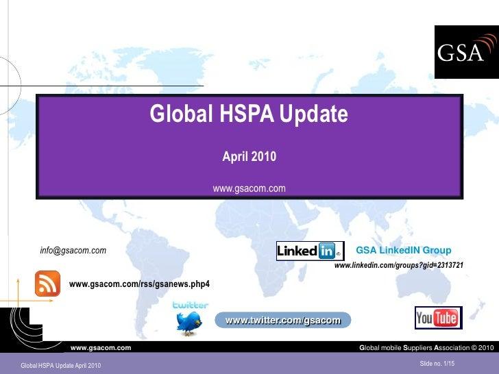 Global HSPA Update                                                     April 2010                                         ...