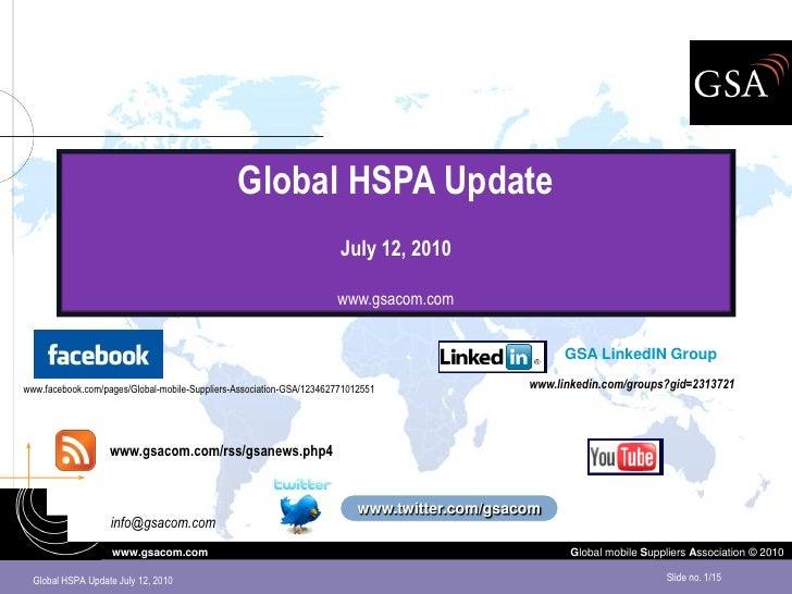Global HSPA Update                                                                       July 12, 2010                    ...