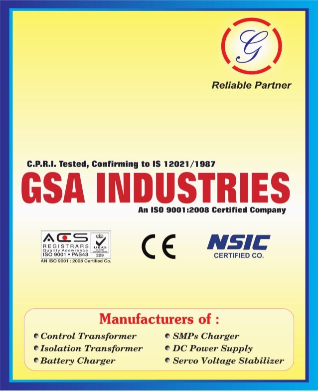 G S A Industries, Delhi, Battery Charger