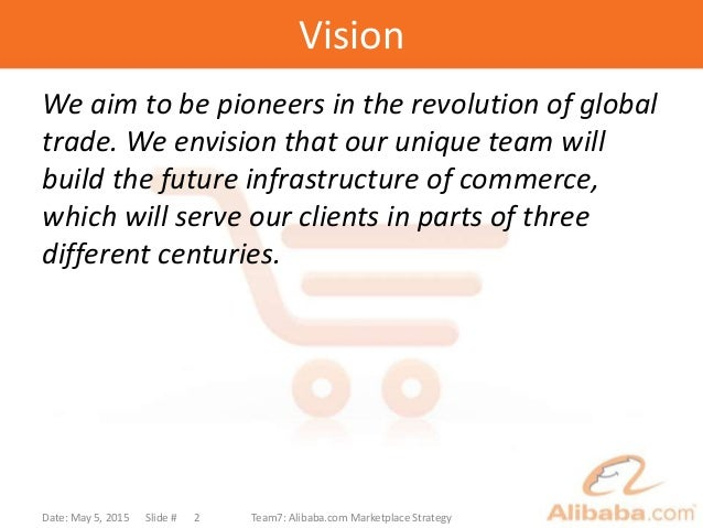 Vision We aim to be pioneers in the revolution of global trade. We envision that our unique team will build the future inf...
