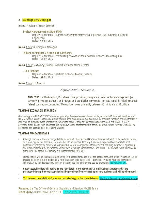 Official Gsa Oasis Business Case