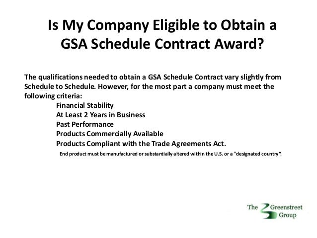 how to find if your company is gsa schedule
