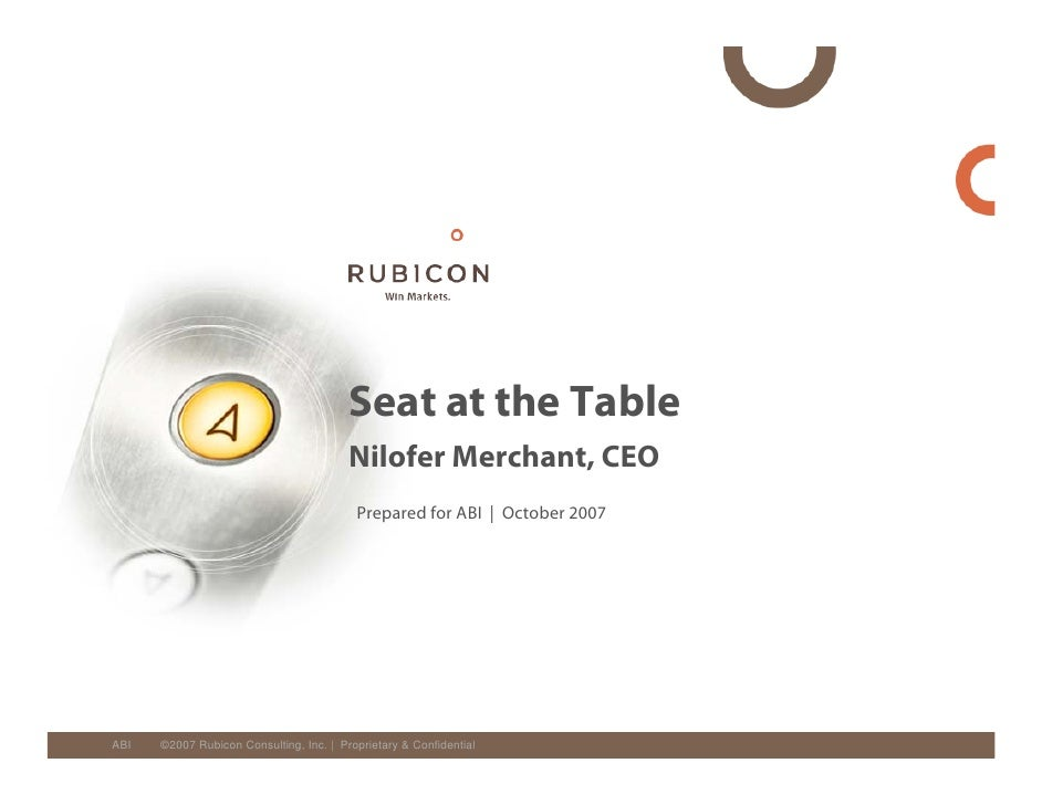 Seat at the Table                                          Nilofer Merchant, CEO                                          ...