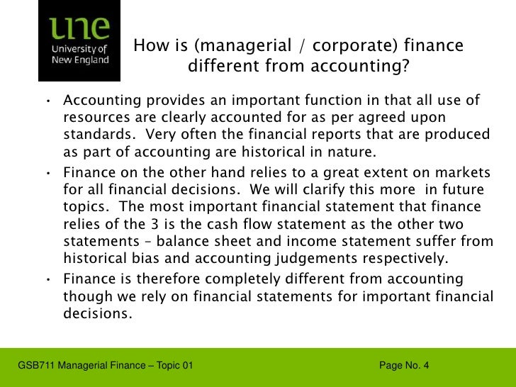 introduction to managerial finance Acc 202 – managerial accounting (3) an introduction to concepts and methods  to assist management in the evaluation of the business enterprise and to aid in.