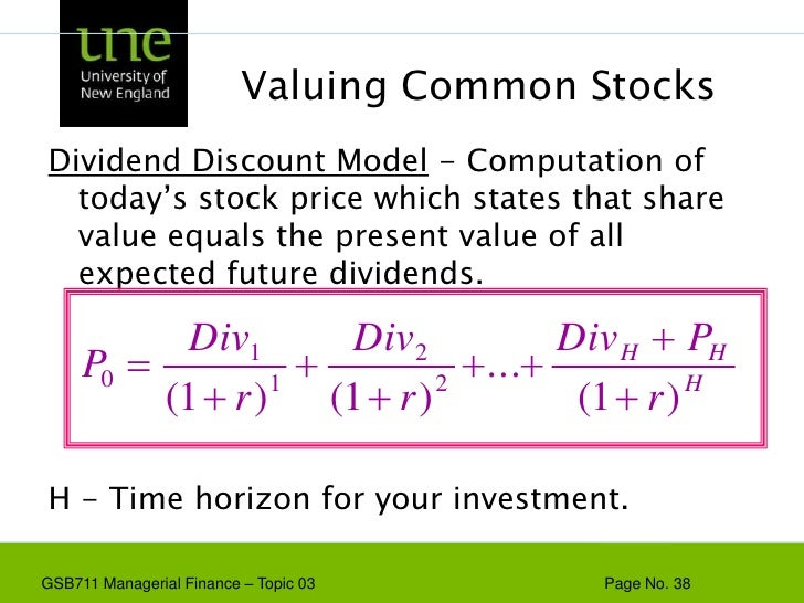 models for the valuation of shares Comparing valuation methods: ddm, dcf dividend discount model calculations (ddm), price to analysts who value shares of different stocks might be forced to.