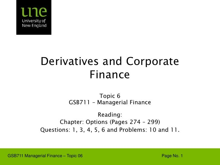 GSB711-Lecture-Note-06-Derivatives-and-Corporate-Finance