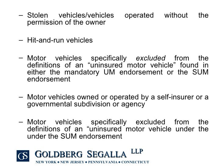 Uninsured and underinsured motorist claims in new york for What is uninsured motor vehicle coverage