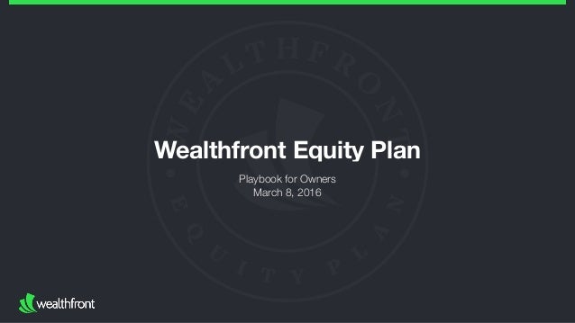 Wealthfront Equity Plan Playbook for Owners