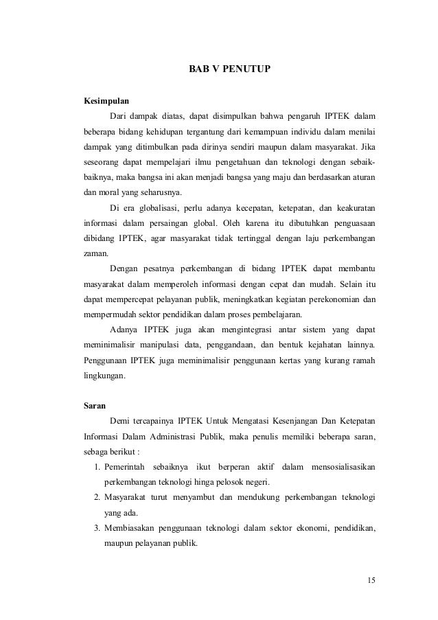 Makalah Perkembangan Iptek Di Indonesia