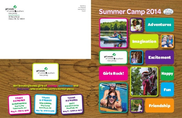 Girl Scouts of Central & Southern NJ Summer Camp Brochure 2014