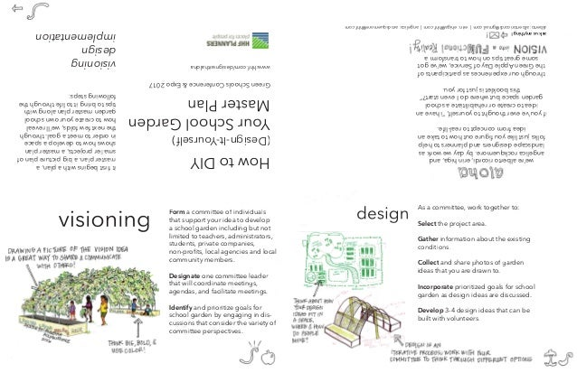 HowtoDIY (Design-It-Yourself) YourSchoolGarden MasterPlan GreenSchoolsConference&Expo2017 visioning design implementation ...
