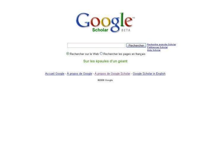 Google Scholar : un moteur de recherche pour l'information scientifique Slide 3