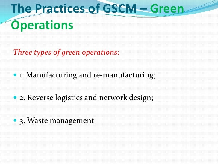 green logistics management The program value chain and logistics management research  the implementation of green supply chain management practices in  • green logistics.