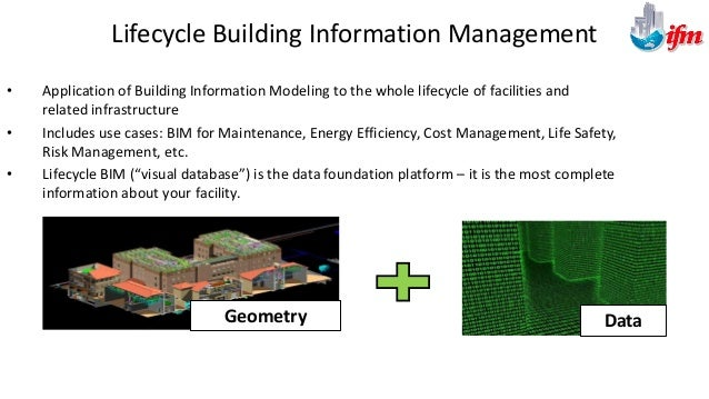 Design - BIM is created for visualization - Feedback from contractors and FM - Design-intent attributes Construction - BIM...