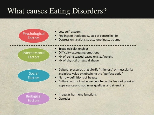 the causes and effects of anorexia 24052017  explains eating problems, including possible causes and how you can access  when i read about eating disorders it was always girls with acute anorexia.
