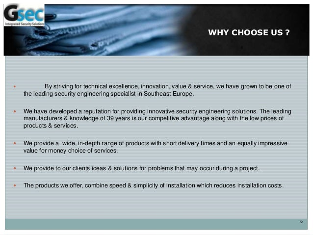 WHY CHOOSE US ?  By striving for technical excellence, innovation, value & service, we have grown to be one of the leadin...